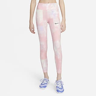 Nike One Big Kids' (Girls') Tie-Dye Printed Leggings