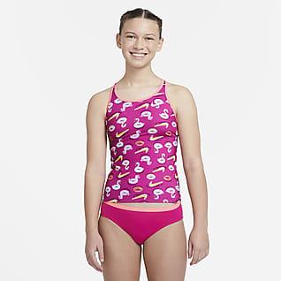 Nike Big Kids' (Girls') Racerback Tankini Set