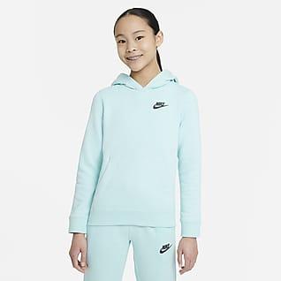 Nike Sportswear Zero Sudadera con capucha sin cierre para niños talla grande