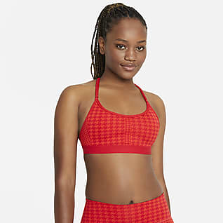 Nike Dri-FIT Indy Icon Clash Vadderad sport-BH med lätt stöd och T-formad rygg för kvinnor