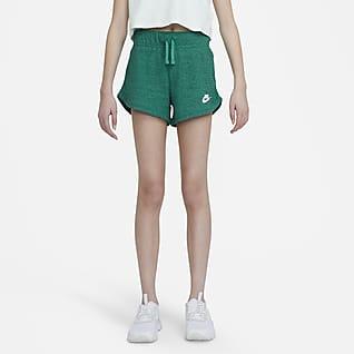 Nike Sportswear Shorts de punto para niña talla grande