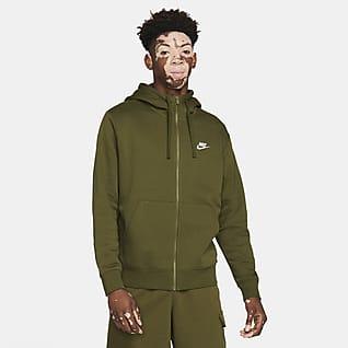 Nike Sportswear Club Fleece Мужская худи с молнией во всю длину