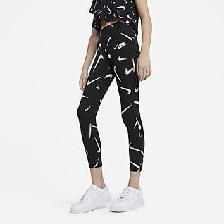 Nike Sportswear Favorites เลกกิ้งพิมพ์ลายเด็กโต (หญิง)