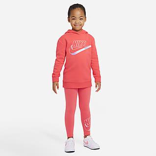 Nike Conjunto de sudadera con gorro y leggings para niños talla pequeña
