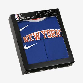 Knicks Replica Set met Nike NBA-jersey en -shorts voor peuters
