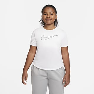 Nike Dri-FIT One Big Kids' (Girls') Short-Sleeve Training Top (Extended Size)