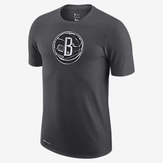 Brooklyn Nets Earned Edition Playera con logotipo de la NBA Nike Dri-FIT para hombre