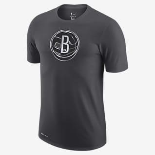 Brooklyn Nets Earned Edition Pánské tričko Nike Dri-FIT NBA slogem