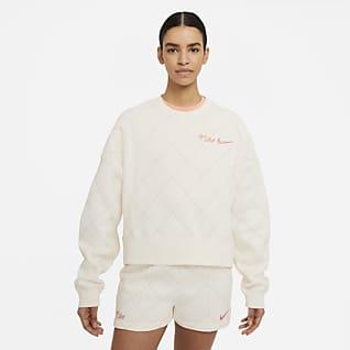 Nike Sportswear Sudadera de cuello redondo de tejido Fleece para mujer
