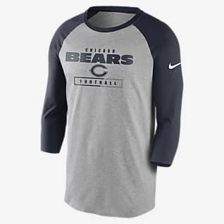 Nike Wordmark Raglan (NFL Bears) Men's 3/4-Sleeve T-Shirt