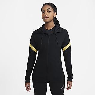 Nike Dri-FIT Strike Chamarra de fútbol con capucha de cierre completo para mujer