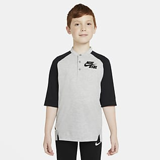 Nike Dri-FIT Flux Big Kids' (Boys') 3/4-Sleeve Baseball Top
