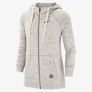 Nike College Gym Vintage (Ohio State) Women's Full-Zip Hoodie