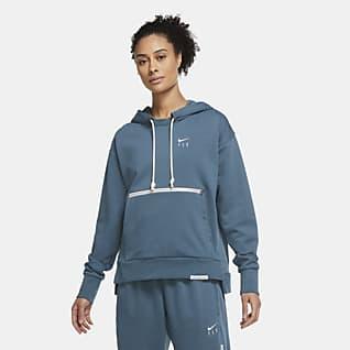 Nike Swoosh Fly Standard Issue Γυναικεία μπλούζα μπάσκετ με κουκούλα