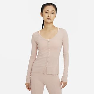 Nike Yoga 女款羅紋開襟上衣