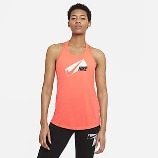 Nike Dri-FIT Elastika Damska koszulka treningowa bez rękawów z nadrukiem