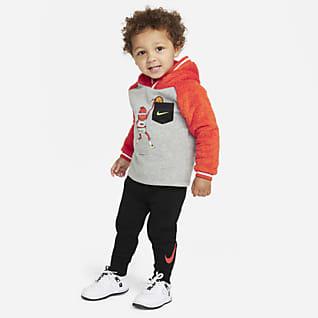 Nike Conjunto de sudadera con capucha y pantalones de entrenamiento para bebé (12-24M)