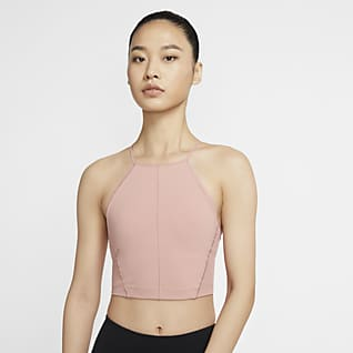 Nike Yoga Camiseta de tirantes corta para mujer de Infinalon