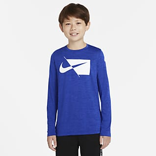 Nike Dri-FIT 大童 (男童) 長袖訓練上衣
