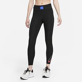 Nike Dri-FIT Retro Run Faster Женские слегка укороченные беговые леггинсы со средней посадкой