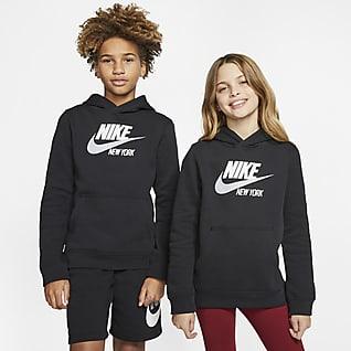 Nike Sportswear Club Fleece New York Sudadera con capucha sin cierre para niños talla grande
