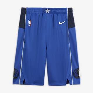 Dallas Mavericks Icon Edition Nike NBA Swingman-shorts til store børn