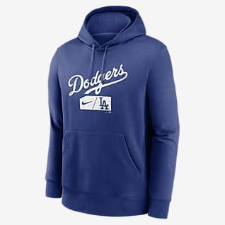 Nike Lettering Club (MLB Los Angeles Dodgers) Men's Pullover Hoodie