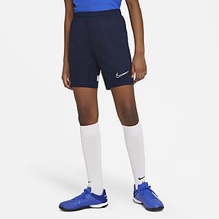 Nike Dri-FIT Academy Fodboldshorts i maskinstrik til store børn