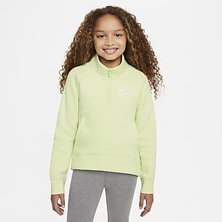 Nike Sportswear Club Fleece Sudadera de medio cierre para niña talla grande