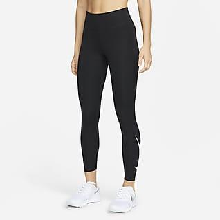 Nike Dri-FIT Swoosh Run Damskie legginsy 7/8 do biegania ze średnim stanem