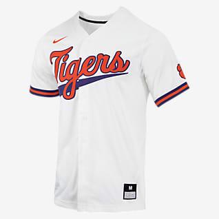 Nike College (Clemson) Men's Full-Button Baseball Jersey