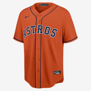 MLB Houston Astros (Zack Greinke) Men's Replica Baseball Jersey