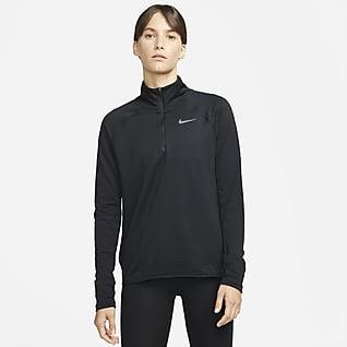 Nike Therma-FIT Element Hardlooptop met halflange ritssluiting voor dames
