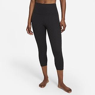 Nike Yoga Luxe Jacquard capritights med høyt liv til dame