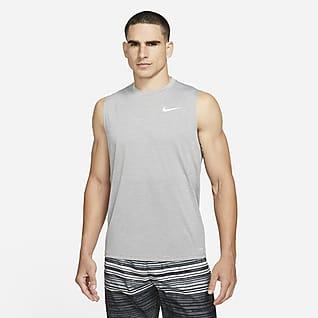 Nike Camiseta Hydroguard de natación sin mangas de tela jaspeada para hombre
