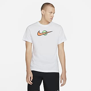 NikeCourt Playera de tenis para hombre Swoosh