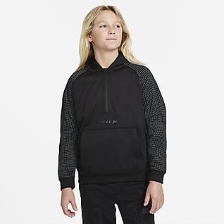 Nike Sportswear Air Max Флисовая худи с молнией на половину длины для мальчиков школьного возраста
