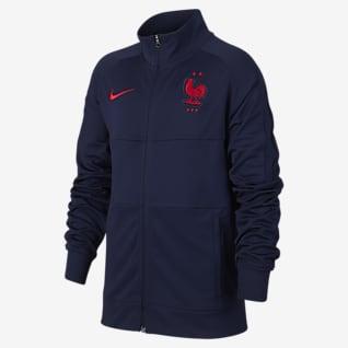 Frankrike Fotballjakke til store barn