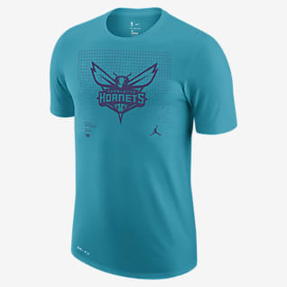 Charlotte Hornets Logo Grid Men's Jordan Dri-FIT NBA T-Shirt