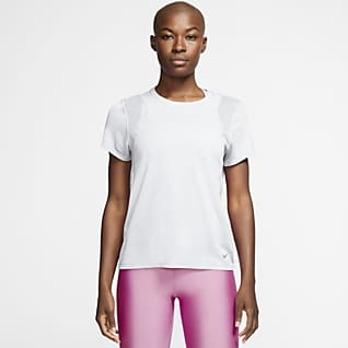 Nike Run Kortermet løpeoverdel til dame