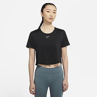 Nike Dri-FIT One 女子短袖短款上衣