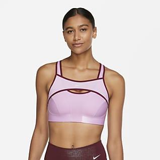 Nike Alpha UltraBreathe Erős tartást adó, párnázás nélküli női sportmelltartó