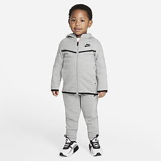 Nike Sportswear Tech Fleece Conjunto de pantalón y sudadera con capucha y cierre y para bebé