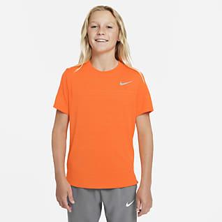 Nike Dri-FIT Miler Treningsoverdel for store barn (gutt)