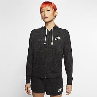 Nike Sportswear Gym Vintage Sudadera con gorro de cierre completo para mujer