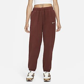 Nike Sportswear Essentials Plyssede joggers med høj talje til kvinder