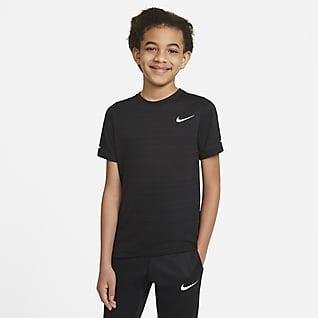 Nike Dri-FIT Miler Edzőfelső nagyobb gyerekeknek (fiúk)