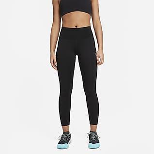 Nike Epic Luxe Terrengløpeleggings med mellomhøyt liv til dame