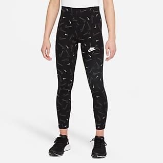 Nike Sportswear Favorites Mønstret leggings til store barn (jente)
