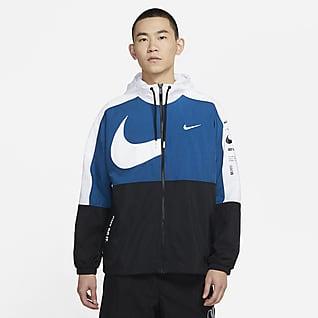Nike Sportswear Swoosh 男子连帽梭织夹克